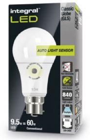 Dusk to dawn light bulbs |Daylight Cool White |Sensor Lamp| LED 60-75W Equivalent | INTEGRAL LED